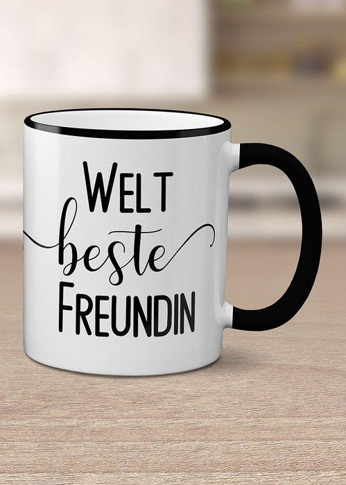 Kaffeetasse Beste Freundin Kaffeetassen Tassen Und Geburtstag