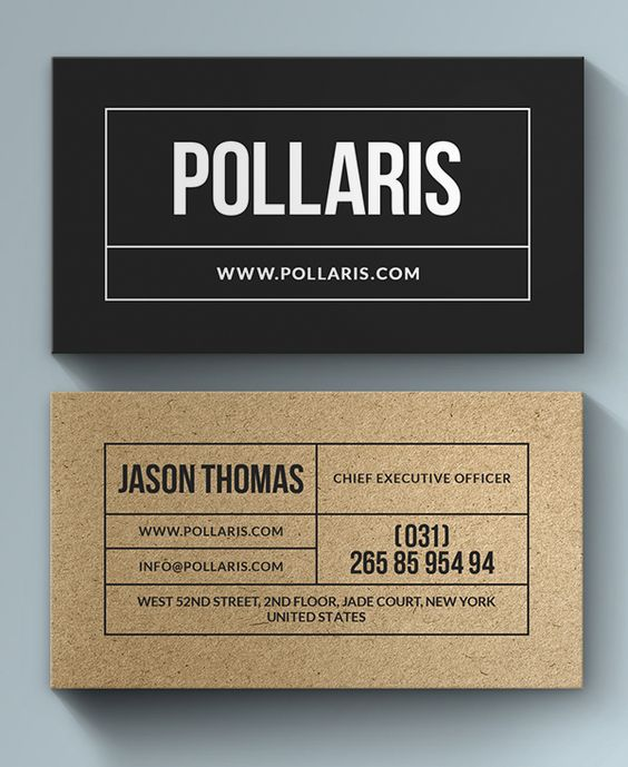 Kraft Paper Business Card