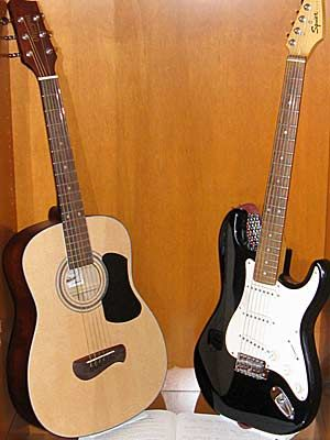 Guitars available through the Instrument check-out program.