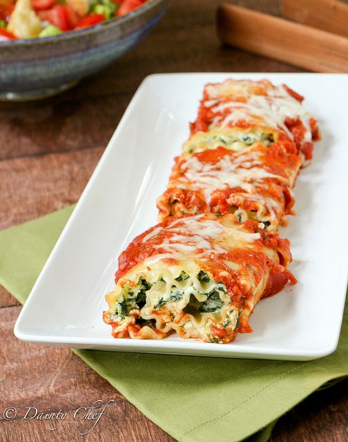 Cute individual Spinach Lasagna Rollups are the perfect meatless meal.