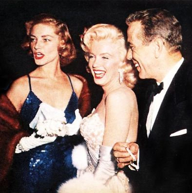 Lauren Bacall, Marilyn Monroe and Humphrey Bogart