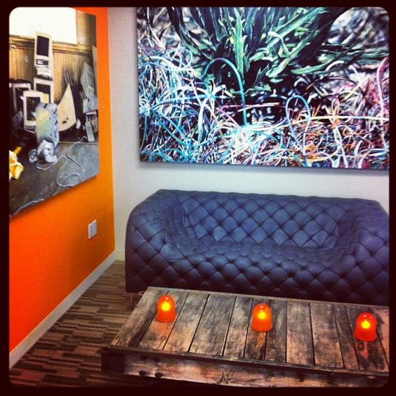 Thanks to used furniture from Digg, orange paint & some cool donated art, the Datasift SF office is almost done! datasift.com
