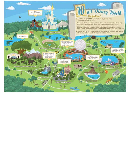 Printable Walt Disney World map for kids Disney – Kids Travel Map