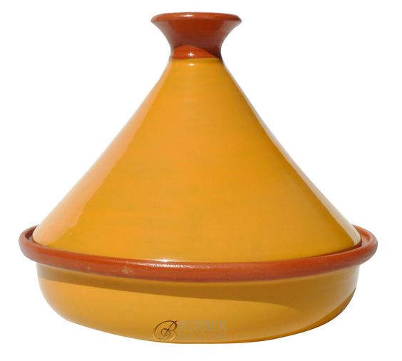 "Add a pop of color to you kitchen with this tagine. When not in use, leave it on your counter to store your fruit or kids after school snack.12"" H x 12"" W x 3"" D imported from Tunisia."