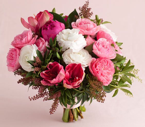 Pink wedding flowers gardens wedding and flower for Fleurs amaryllis bouquet