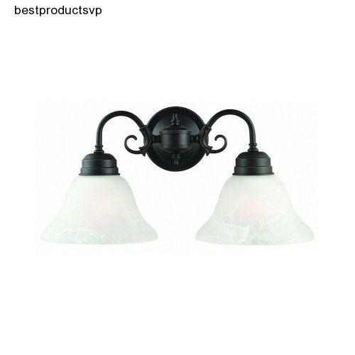 #Ebay #Oil #Rubbed #Bronze #Vanity #2 #Light #Fixture #Wall #Mount #Bathroom #Glass #Metal #Sconces #DesignHouse #ArtDeco
