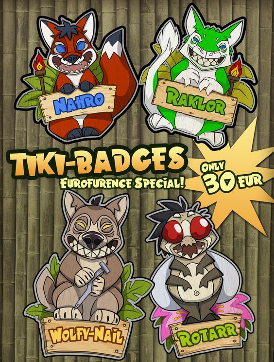 Tiki badges by Rotarr