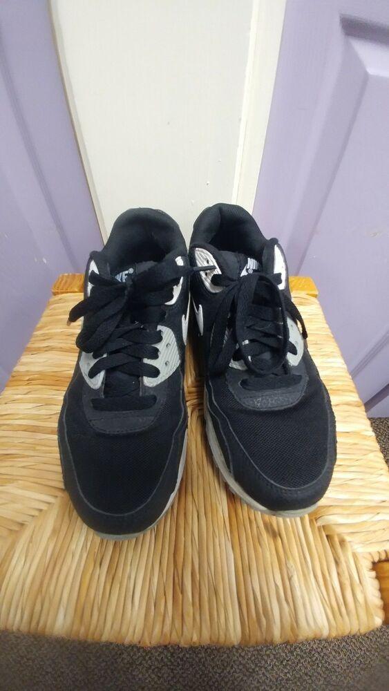 Nike Air Max 90 Essential Black White Wolf Grey Women's Sz 7