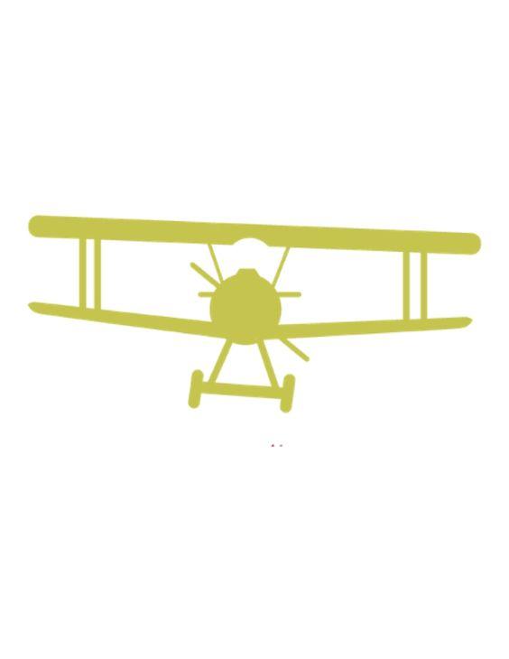 Green vintage airplane free printable