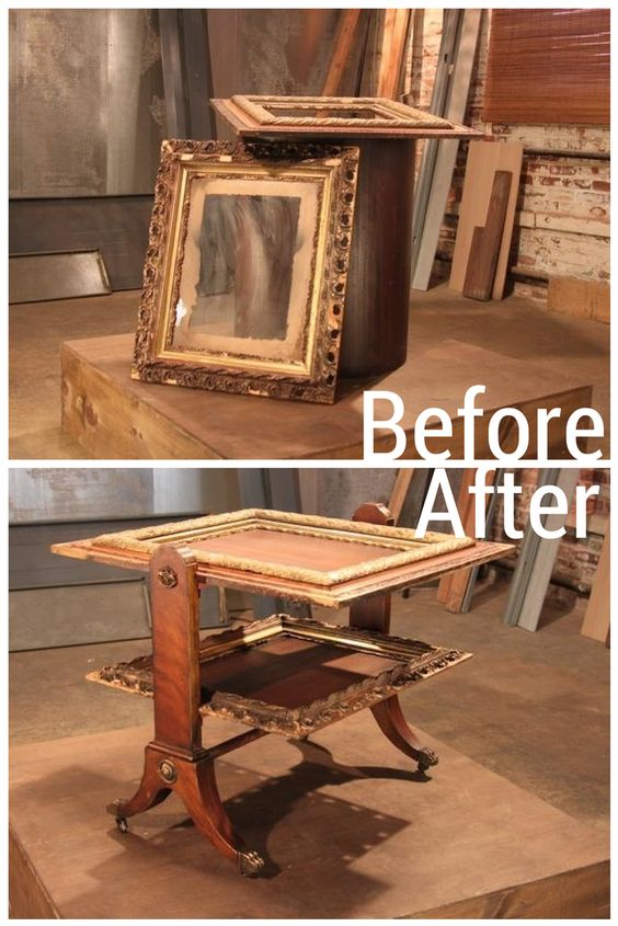 Antique Frames Become Nesting Tables