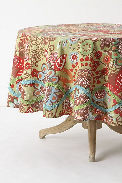 Love the colors in this tablecloth!  Just the ones I am trying to put together in my home!