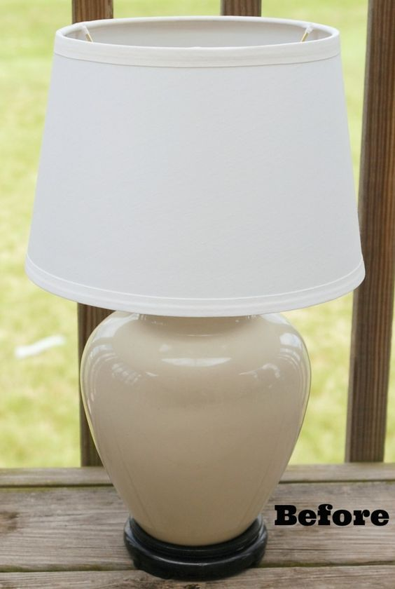 Table Lamp Makeover  {you have to see the after!}