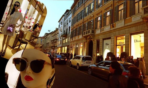 Milano é o berço da moda, isso não é novidade, e pra quem não conhece, existe uma rua chamada #MonteNapoleone, famosa em todo mundo por ter muitas lojas luxuosas da alta moda, além de cafés e bares elegantes. Junto com mais três ruas (Via della Spiga, Via Sant'Andrea e Via Pietro Verri) formam o famoso #QuadriláterodaModa #oticaswannygoestoitaly