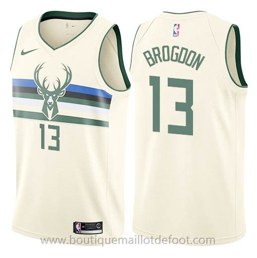Nike maillot de city version nba blanc Malcolm Brogdon
