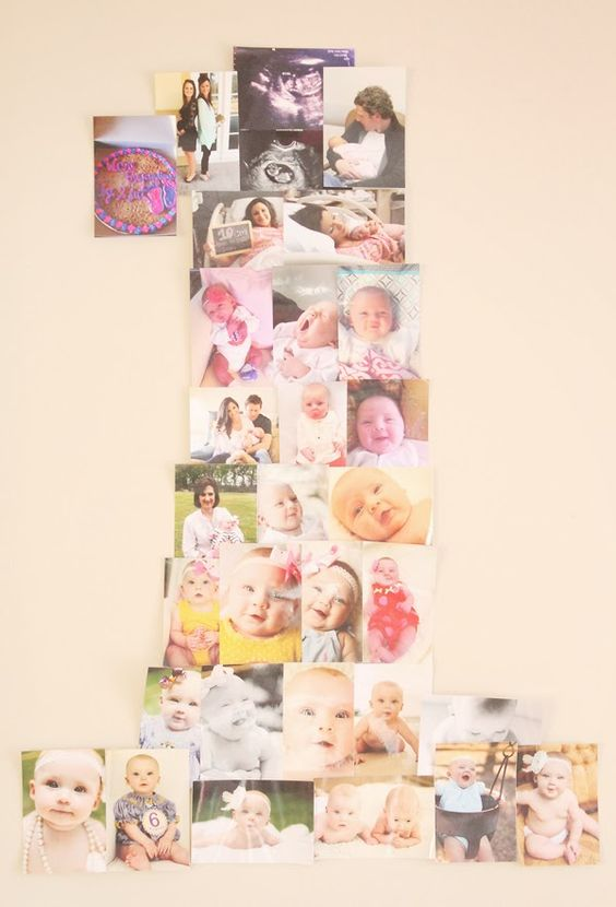 First Birthday Party idea- make the #1 using your favorite photos from the first year! www.charmingincharlotte.blogspot.com
