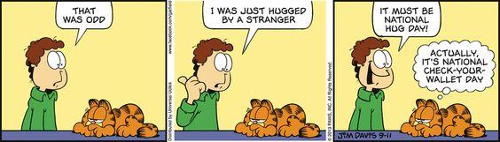 Uh oh.. | #Garfield on GoComics.com #humor #comics