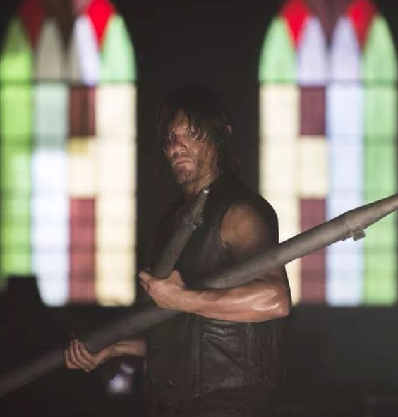Norman always looks sexy even when he's dirty
