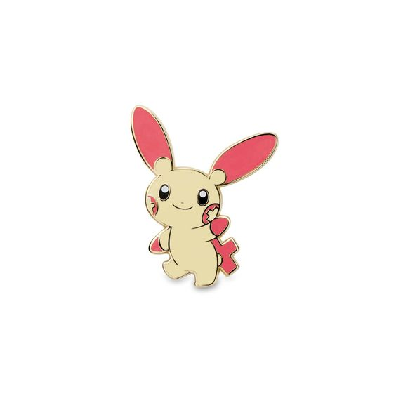 Official Plusle and Minun Pokémon Pins. These cheerleading favorites make a…