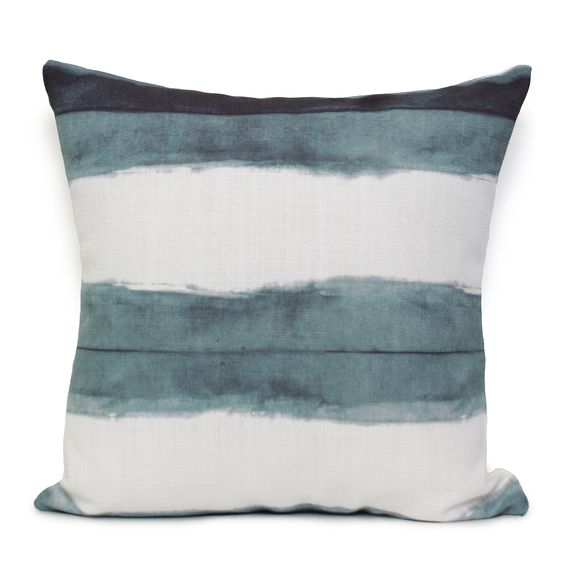 Shibori Stripe Cushion - Ocean