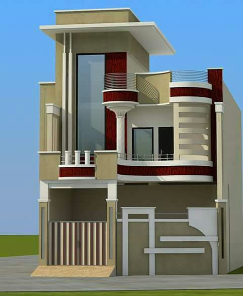 20 Feet By 50 Modern House Plan With 4 Bedrooms House Floor Design Bungalow House Design Small House Front Design