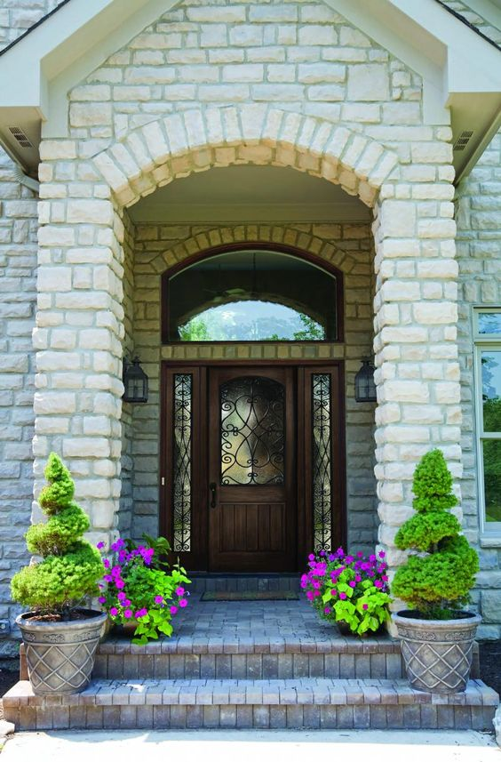 Front Porch Design Stone Porches And Brick Repair On