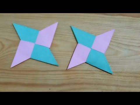اعمال يدوية بالورق كيف تصنع نجمة نينجا حقيقية بالورق الملون Paper Ni Gaming Logos Logos Art