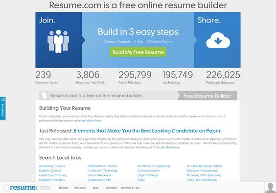 Vizify Resume Job Search Pinterest - my free resume builder