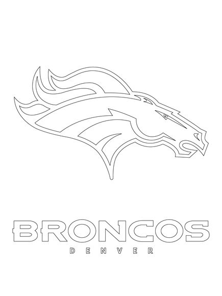 broncos logo coloring pages - photo#19
