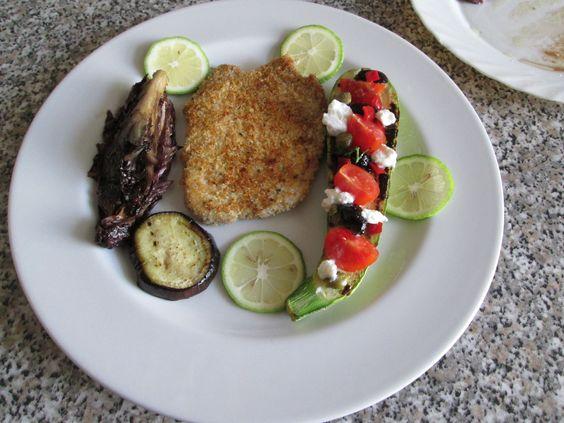 JHS/  Cotoletta  di maiale  e  verdure  grigliate Gino D'Aquino