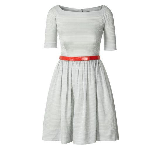 Get in my closet! Pleated Silk Boat Neck Dress. Orla Kiely.