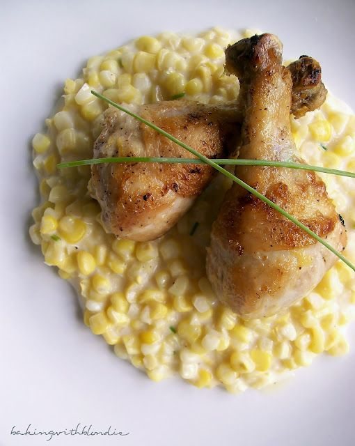 Lemon Garlic Chicken with Creamed Corn