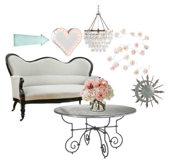 """""""Sitting In The Light"""" by davisaudrey on Polyvore featuring interior, interiors, interior design, home, home decor, interior decorating, Talking Tables, New Look, Vintage Marquee Lights and Diane James"""