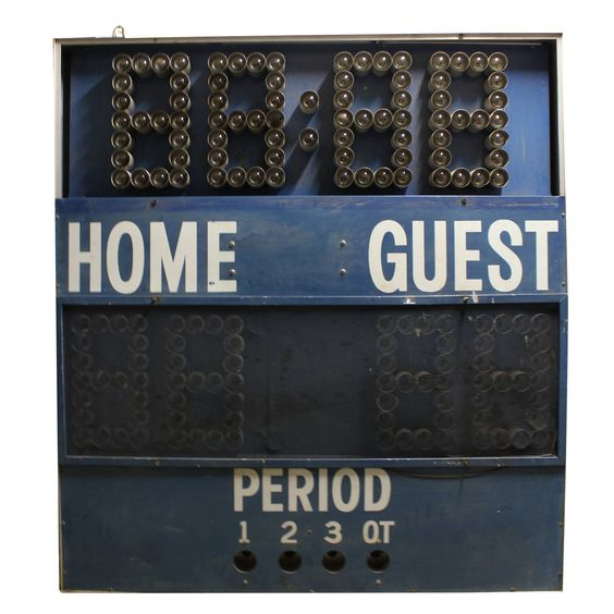 Vintage Gymnasium Scoreboard | From a unique collection of antique and modern sports at https://www.1stdibs.com/furniture/more-furniture-collectibles/sports/