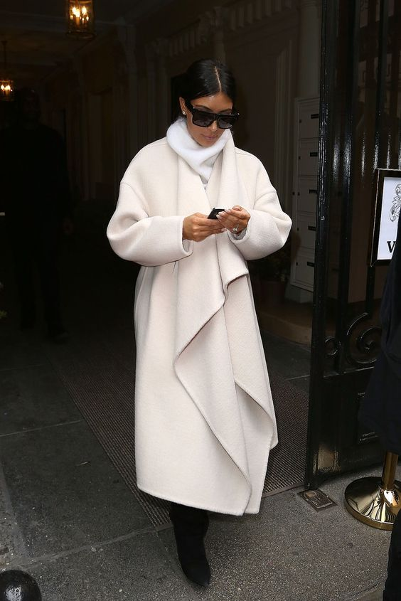 Kim Kardashian Coats | POPSUGAR Fashion
