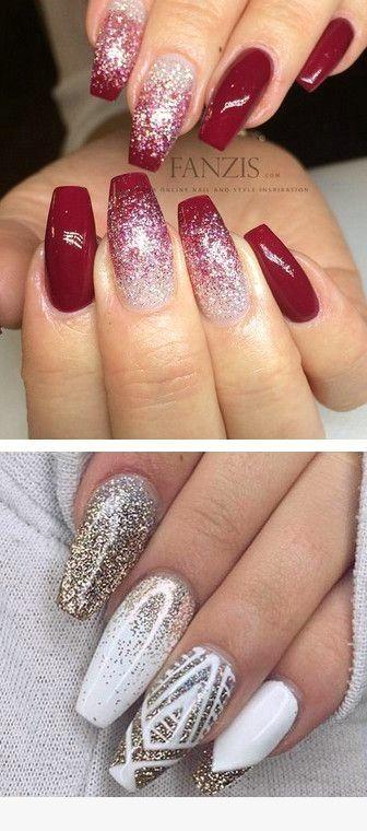 40 Christmas Winter Ideas For Nails Christmas Ideas Nails