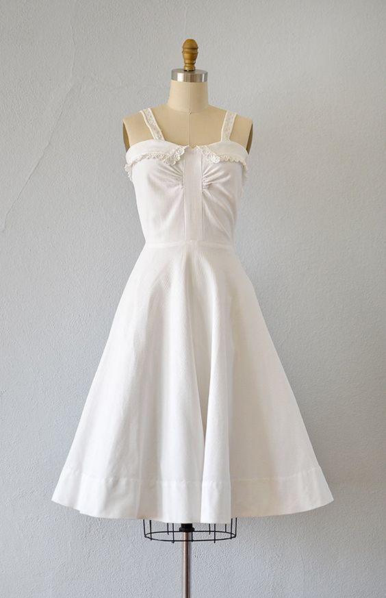 vintage 1950s white pique cotton summer dress  Frills &amp frocks ...