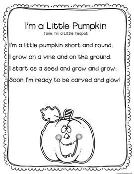 pumpkin rhymes preschool pumpkins unit literacy activities pumpkins literacy 206