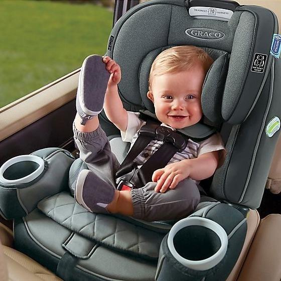 Graco 4ever Dlx Platinum 4 In 1 Convertible Car Seat In Flynn Car Seats Convertible Car Seat Baby Car Seats