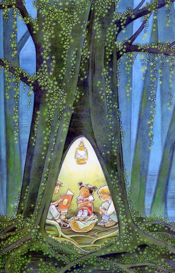 Pinzellades al món: Arbre lector / Árbol lector / Tree reader