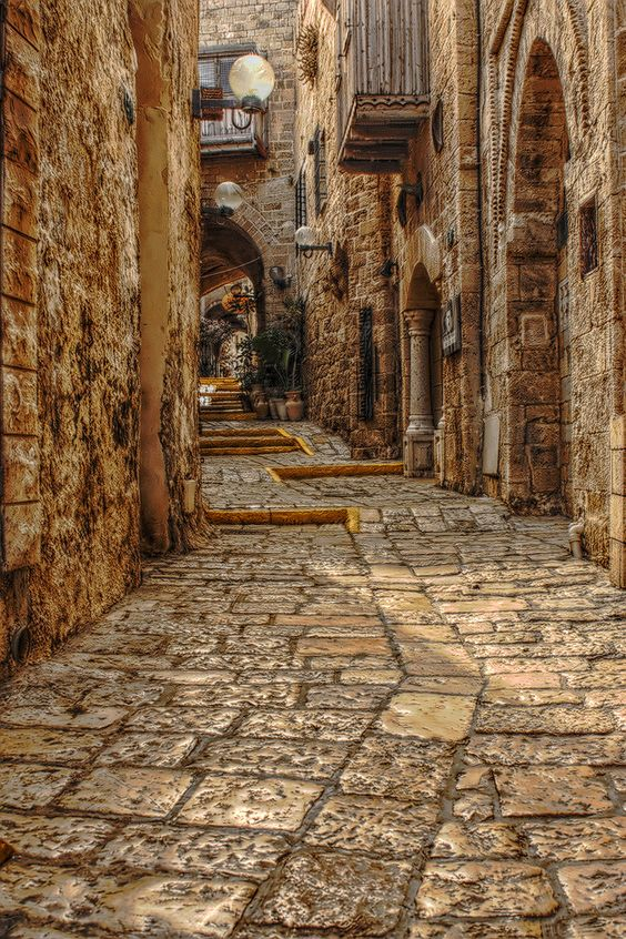 inside the old city of Rhodes, Greece