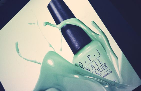 Mint in your nails.