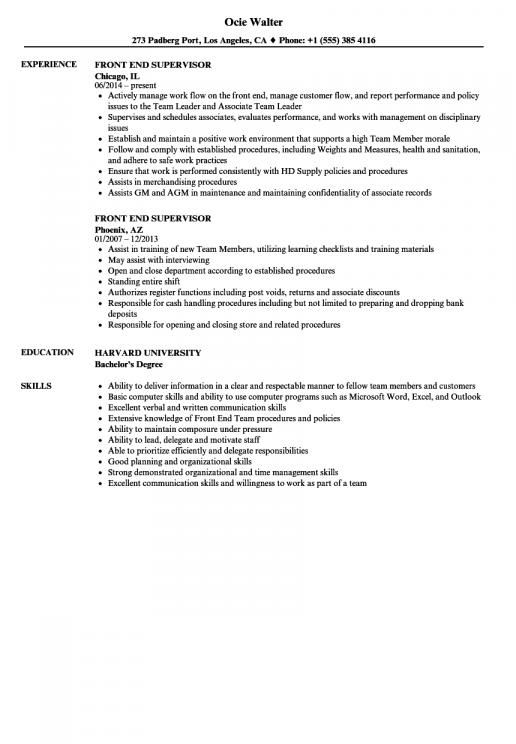 Sample Resume For Grocery Store Supervisor Sample Resume Career Change Resume Resume