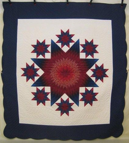 Star in Galaxy Amish Quilt this look complicated challenge accepted!
