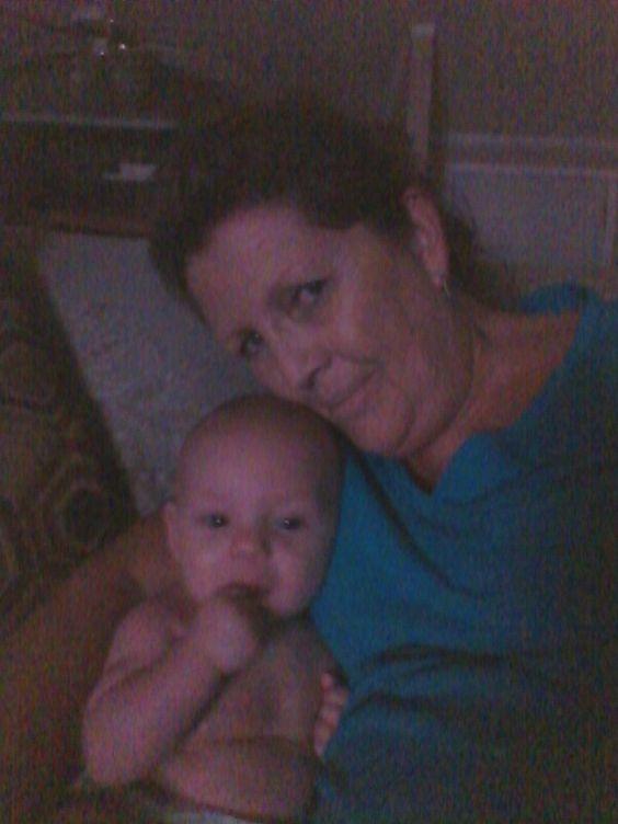 Grandma V & Sophia watching television