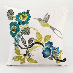.: Pillow Hummingbird, Hummingbird Pillow, Accent Pillows, Bird Accent