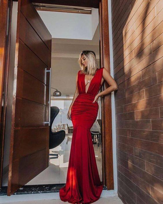 vestido de formatura decote belezura