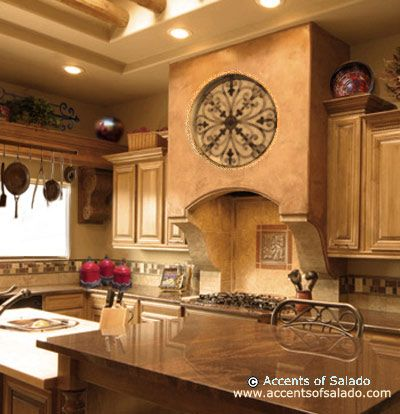 You love spanish decor and are looking for something bold for Spanish style kitchen decor