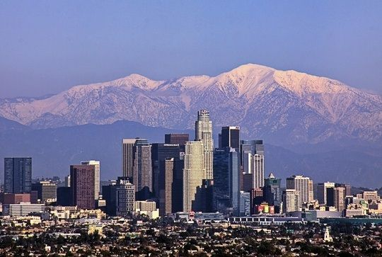 Cityscape View Of Los Angeles Winter Time City Skyline Art Cityscape City Skyline