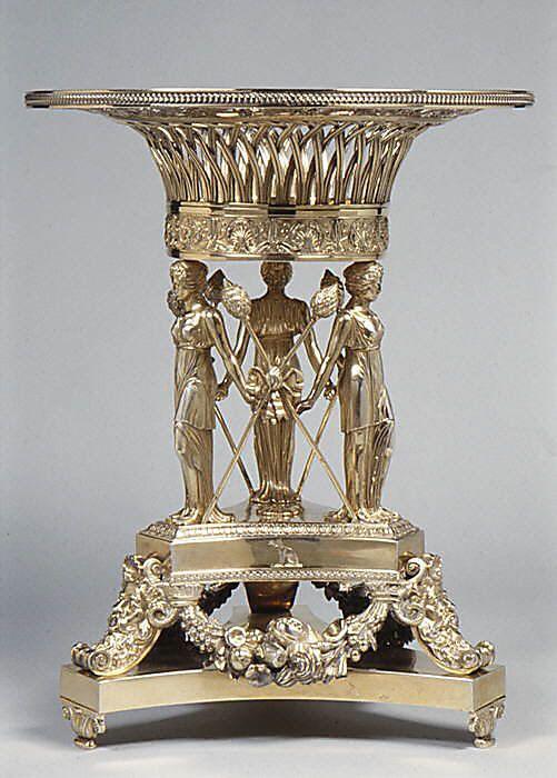 1814-1815 British Fruit stand at the Metropolitan Museum of Art, New York