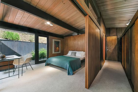 The first bedroom also has access to the outdoor space